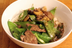 Teriyaki Stir-Fried Beef with Snow Peas and Mushrooms