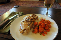 Chicken Fricassée with Indian Rice