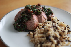 Pork tenderloin with tomato-basil salsa